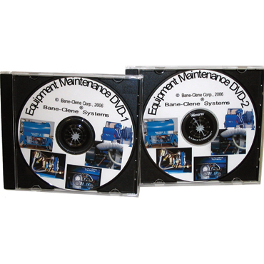Carpet Cleaning System Maintenance DVD's for BELT Driven Units (set of 2)