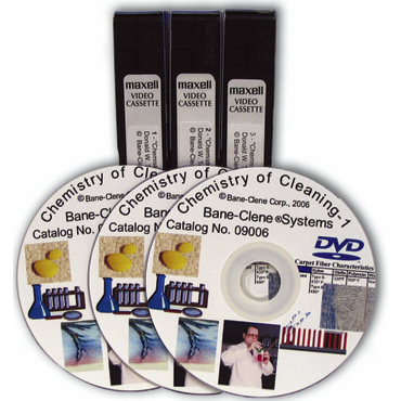 Carpet Cleaning Chemistry DVDs - set of 3