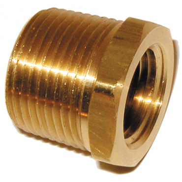 3/4 inch x 1/2 inch NPTF Brass Pipe Reducer Bushing