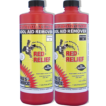 Red Relief® by Pro's Choice removes food and drink dye stains from carpet (Kit of 2 pints)