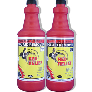 Pro's Choice Red Relief® Removes Food, Drink and Kool-Aid Acid Dye Stains from Carpet (Kit of 2 quarts)