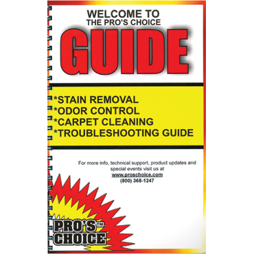 Pro's Choice Printed Stain Guide - English Version