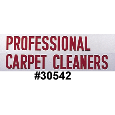 Van Decal: 'Professional Carpet Cleaners' - Red (60