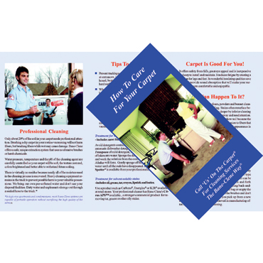 """Residential Carpet Care Brochure - """"How to Care for Your Carpets"""" from Bane-Clene® (Pack of 100)"""