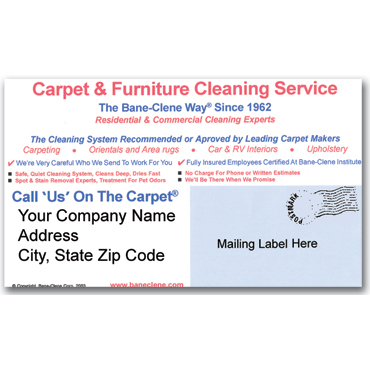 Consumer Postcards for Carpet Cleaning Direct Mail (Pack of 100)