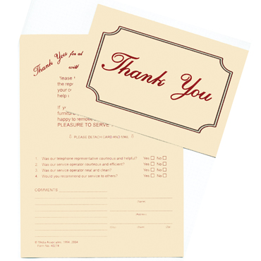 Thank You / Reply Card (Pack of 100)