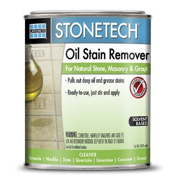 StoneTech™ Oil Stain Remover for Marble and Granite Countertops, Concrete and Grout