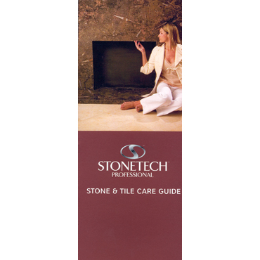 Stone Care Guide Small Tri-fold Self-Mailer / Handout by StoneTech™
