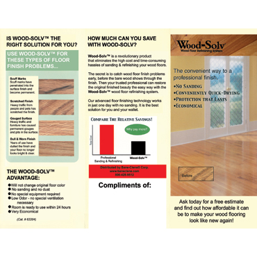 Wood-Solv™ Restoration - Contractor Brochures (100/pkg)
