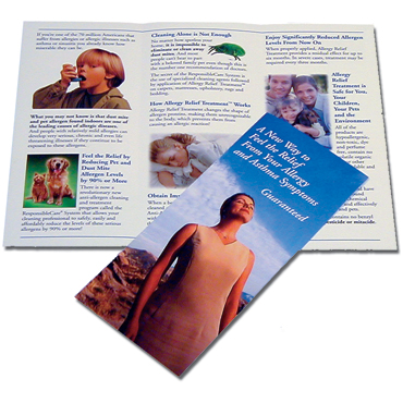 Anti-Allergen Allergy Relief Treatment Small Brochure (100/pkg)