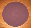 Maroon/Redwood Wood floor Pad for 17