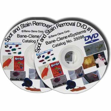 Spot & Stain Removal DVD (Set of 2 DVD's) by Bane-Clene's chemist