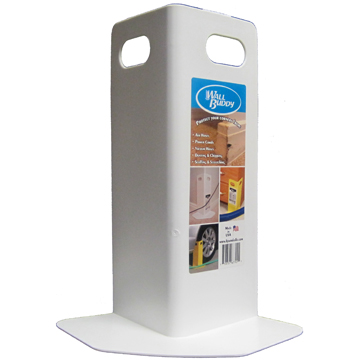Wall Buddy™ Corner Guard Protects Wall Corners from Damage by Carpet Cleaning Hoses and Fittings
