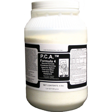 PCA™ Formula 4 High-pH Heavy-Duty Extraction Powdered Cleaning Agent  - 6lb Jar