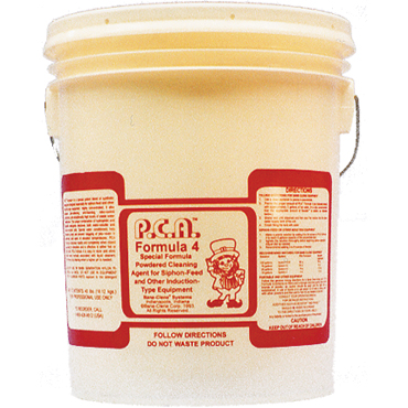 PCA™ Formula 4 High-pH Heavy-Duty Extraction Powdered Cleaning Agent  - 40lb Pail