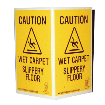 Caution Sign / Wet Floor Warning Sign - Disposable